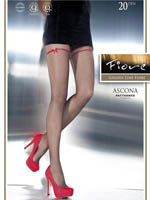 Fiore - Patterned Tights Ascona Black