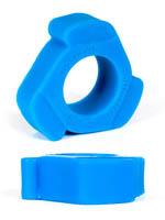 Burning Wheels 100% Silicone Cockring CK10 Blue