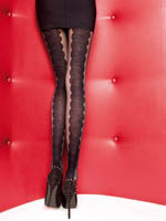 Fiore - Patterned Tights Cordoba Black