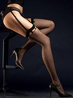 Fiore - Fishnet Stockings Burlesque Black