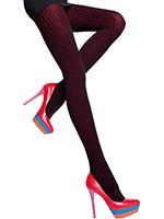 Fiore - Striped Cotton Tights Xara Black/Red