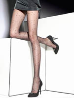 Fiore - Patterned Tights Lorna Black