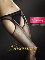 Fiore - Fishnet Suspender Tights Passion Tan