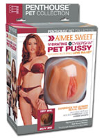 Aimee Sweet Vibrating CyberSkin Pet Pussy