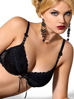 Roza - Push-UP Bra Damaris Black