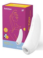 Clitoral Stimulator - Satisfyer Curvy 1+ App Connect - White