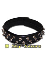 Leather Collar 40 mm wide with rivets